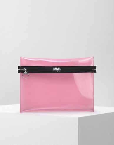 MM6 MAISON MARGIELA Document holder D PVC pouch with contrasting zip f