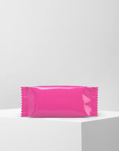 MM6 by MAISON MARGIELA Clutch D Small patent candy wrapper pouch f