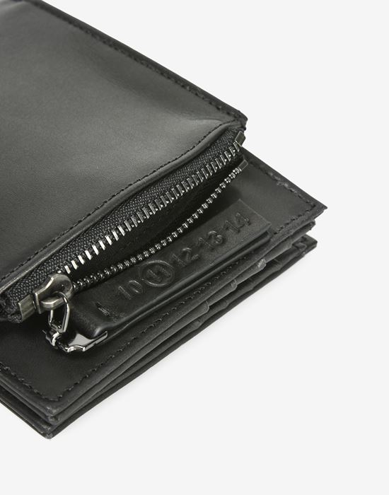 MAISON MARGIELA Calfskin wallet with outer coin pouch Wallet [*** pickupInStoreShippingNotGuaranteed_info ***] b