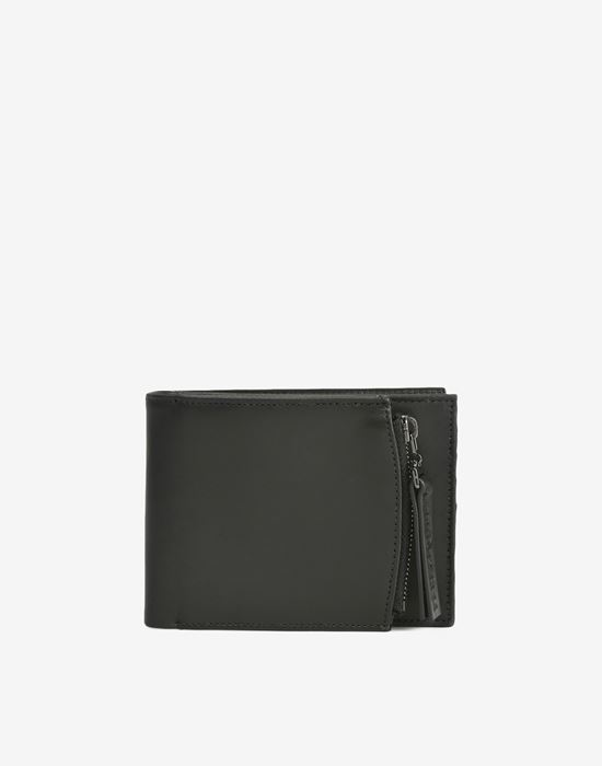 MAISON MARGIELA Calfskin wallet with outer coin pouch Wallet [*** pickupInStoreShippingNotGuaranteed_info ***] f