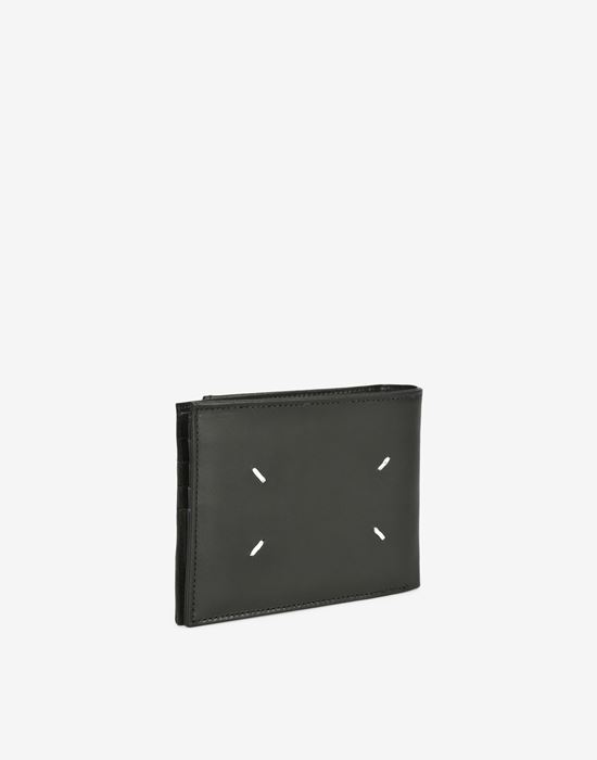 MAISON MARGIELA Calfskin wallet with outer coin pouch Wallet [*** pickupInStoreShippingNotGuaranteed_info ***] r