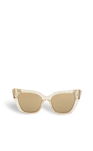 Gold tinted sunglasses