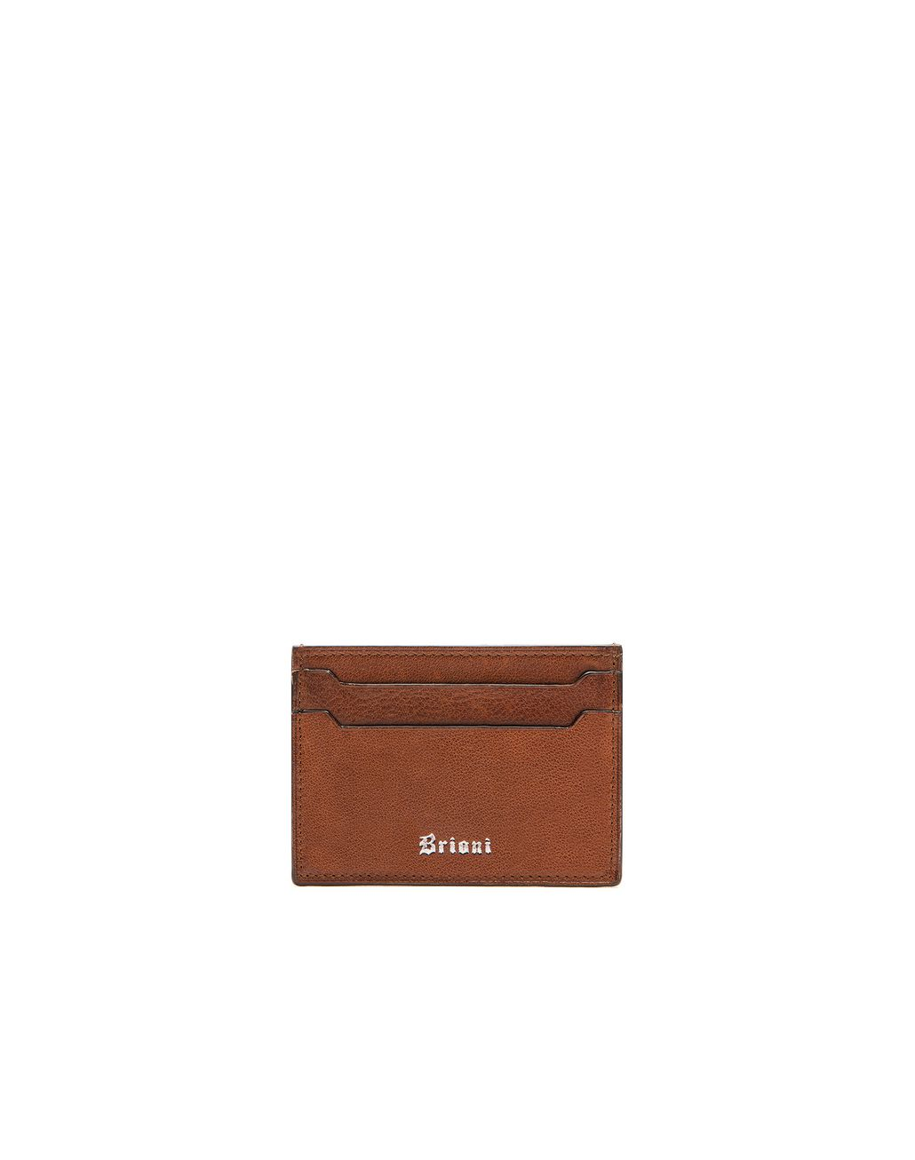 BRIONI Brown Credit Card Holder Leather Goods U f