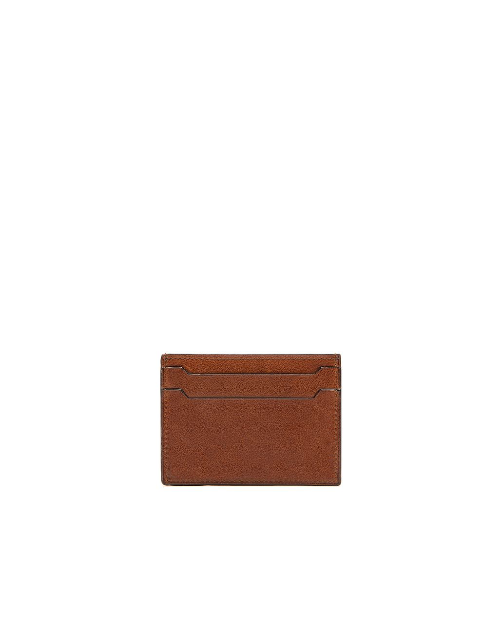 BRIONI Brown Credit Card Holder Leather Goods Man r