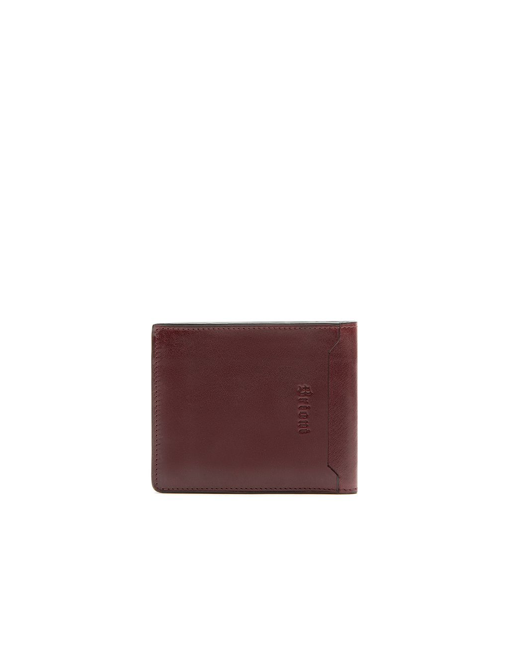 BRIONI Oxblood Slim Wallet Leather Goods Man d