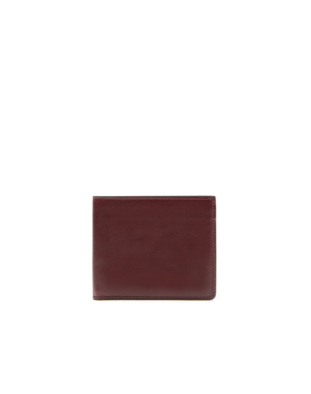 BRIONI Oxblood Slim Wallet Leather Goods Man f