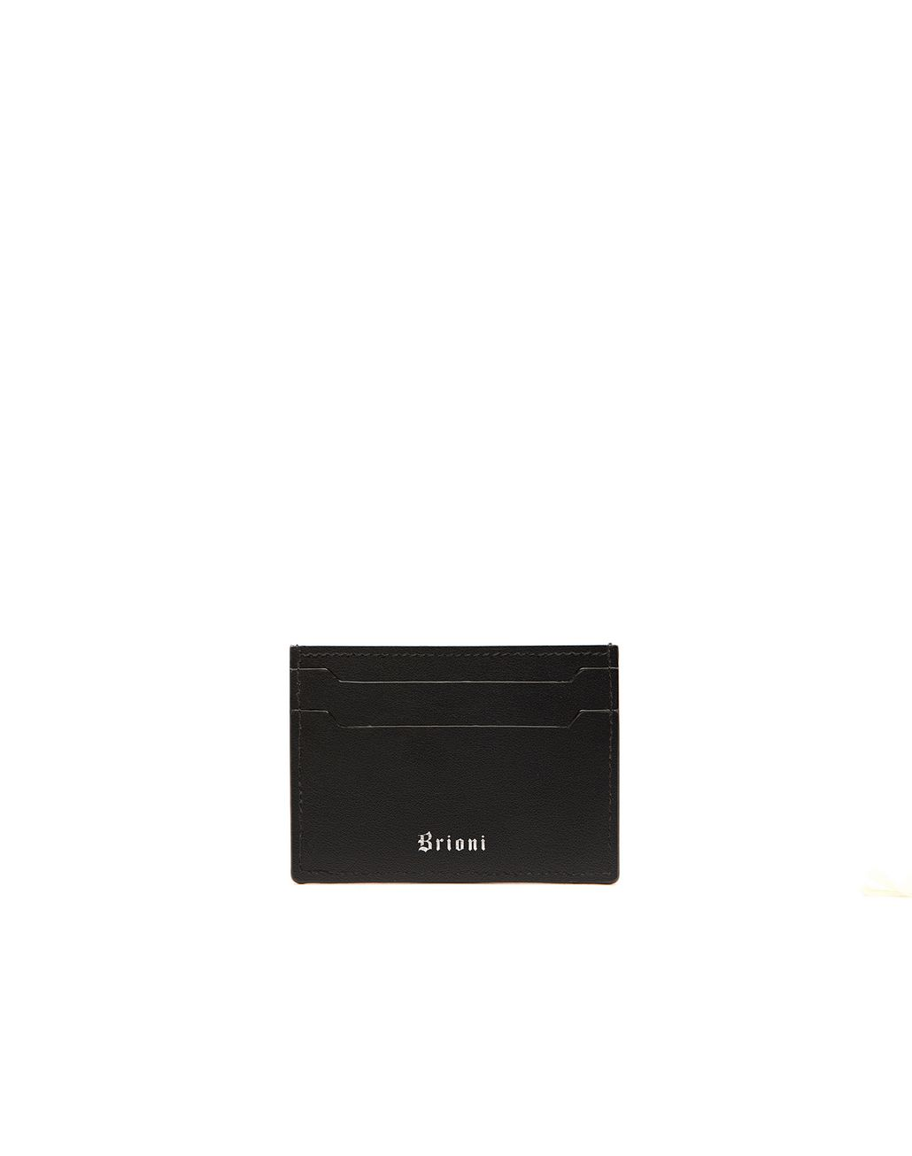 BRIONI Black Credit Card Holder Leather Goods Man f