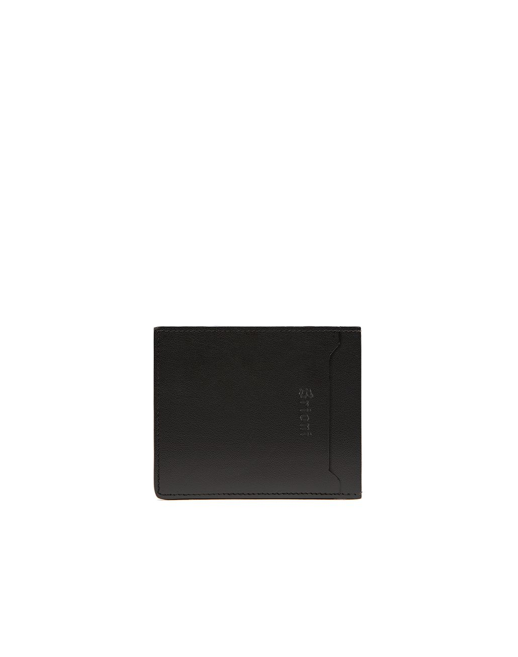 BRIONI Black Slim Wallet Leather Goods Man d