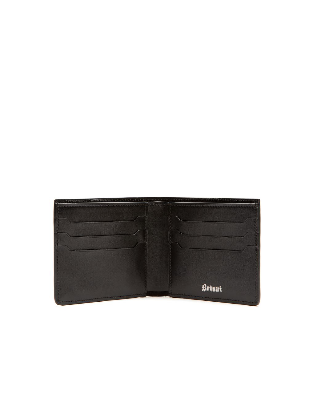 BRIONI Black Slim Wallet Leather Goods Man r