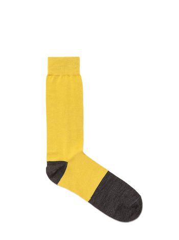 Marni Wool sock pale yellow Man