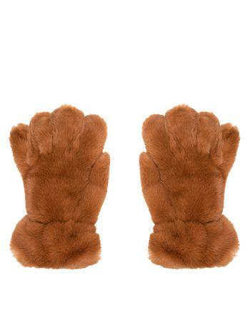 Marni Gloves in lapin rex brown Woman