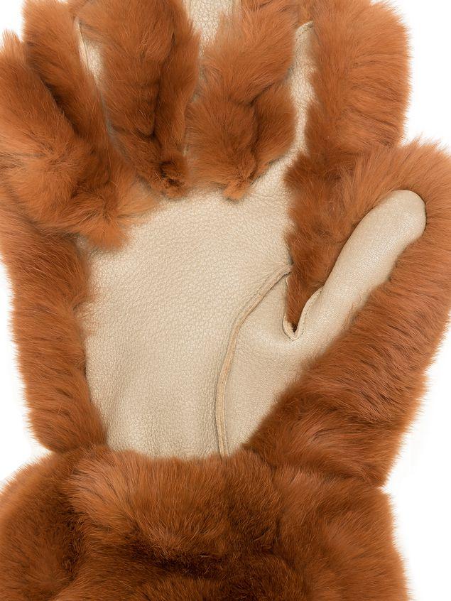 Marni Gloves in lapin rex brown Woman - 2