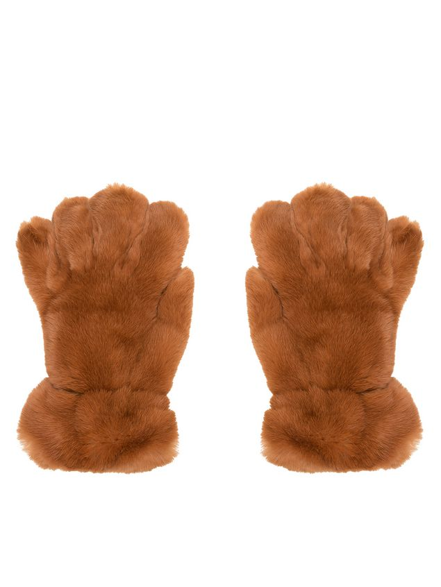 Marni Gloves in lapin rex brown Woman - 1
