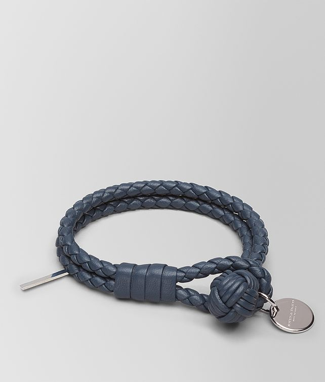 BOTTEGA VENETA BRACELET IN DENIM INTRECCIATO NAPPA LEATHER Keyring or Bracelets E fp