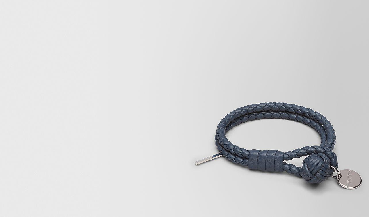 bracelet in denim intrecciato nappa landing