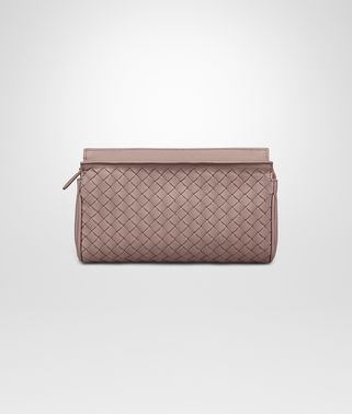 BEAUTY CASE PICCOLO IN INTRECCIATO NAPPA DESERT ROSE