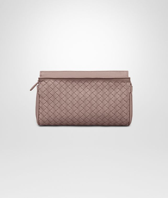 BOTTEGA VENETA SMALL COSMETIC CASE IN DESERT ROSE INTRECCIATO NAPPA Other Leather Accessory D fp