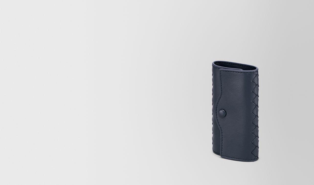key case in denim intrecciato nappa leather landing