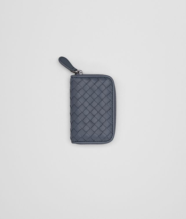 BOTTEGA VENETA COIN PURSE IN KRIM INTRECCIATO NAPPA Mini Wallet Woman fp