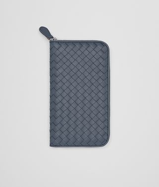 ZIP-AROUND WALLET IN KRIM INTRECCIATO NAPPA LEATHER