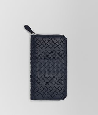 PRUSSE INTRECCIATO AURELIO CALF ZIP-AROUND WALLET