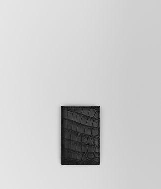 CARD CASE IN NERO CROCODILE