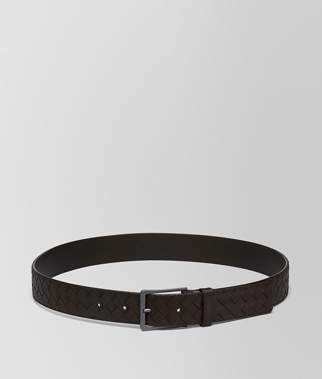 BOTTEGA VENETA BELT IN ESPRESSO INTRECCIATO VN Belt [*** pickupInStoreShippingNotGuaranteed_info ***] fp