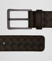 belt in espresso intrecciato vn Right Side Portrait