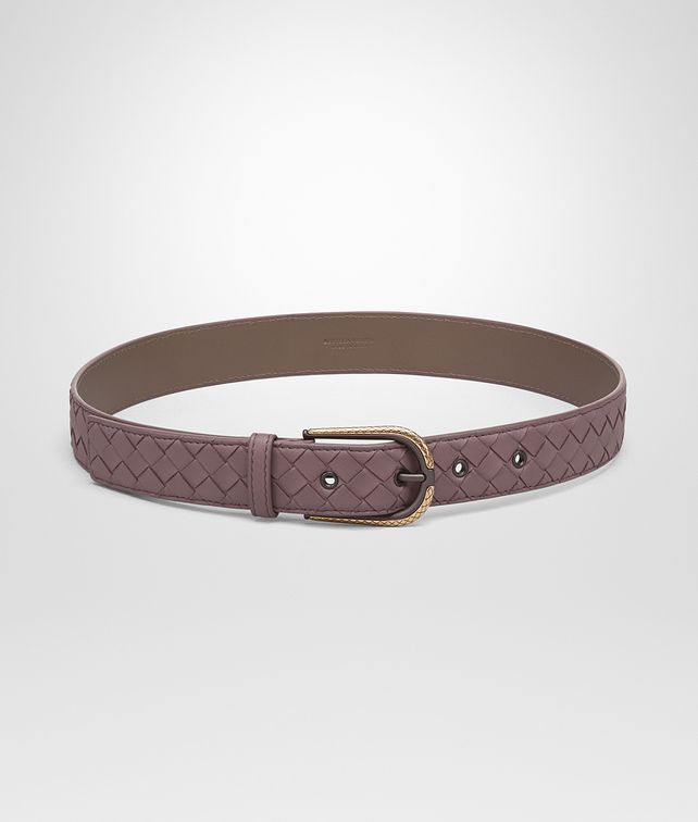 BOTTEGA VENETA BELT IN GLICINE INTRECCIATO NAPPA Belt Woman fp