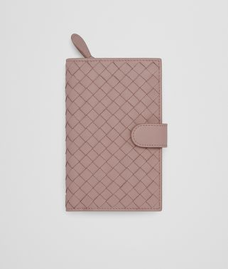 CONTINENTAL WALLET IN DESERT ROSE INTRECCIATO NAPPA LEATHER