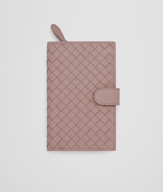 BOTTEGA VENETA CONTINENTAL WALLET IN DESERT ROSE INTRECCIATO NAPPA Continental Wallet Woman fp
