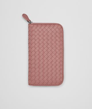 ZIP-AROUND WALLET IN BOUDOIR INTRECCIATO NAPPA LEATHER