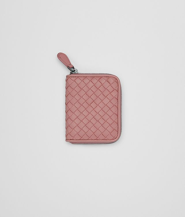BOTTEGA VENETA COIN PURSE IN BOUDOIR INTRECCIATO NAPPA Mini Wallet Woman fp