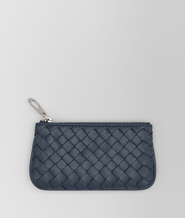 BOTTEGA VENETA KEY CASE IN DENIM INTRECCIATO NAPPA Keyring or Bracelets E fp