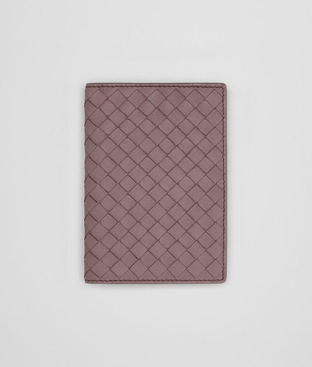 BOTTEGA VENETA PASSPORT CASE IN GLICINE INTRECCIATO NAPPA Other Leather Accessory Woman fp
