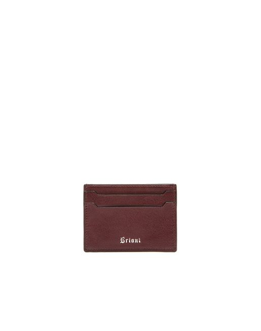BRIONI Leather Goods U Oxblood Credit Card Holder f