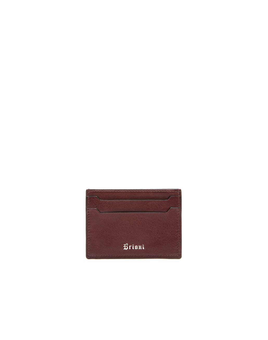 BRIONI Oxblood Credit Card Holder Leather Goods U f