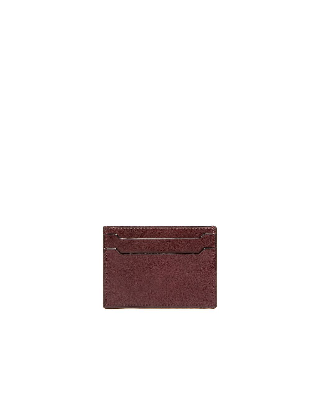 BRIONI Oxblood Credit Card Holder Leather Goods Man r