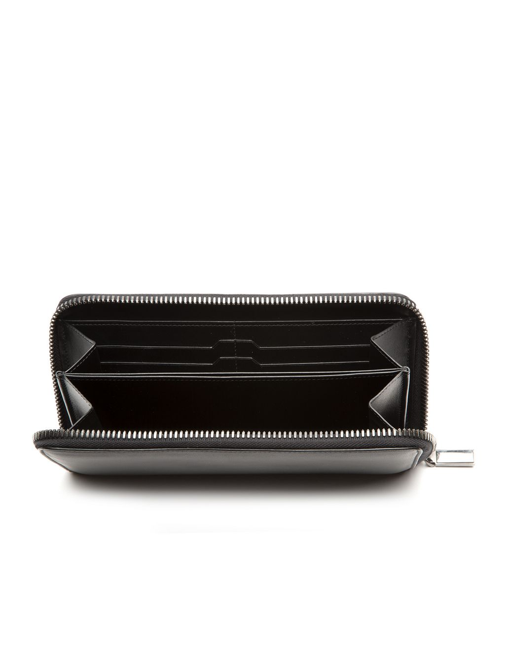BRIONI Black Zip Around Wallet  Leather Goods Man d