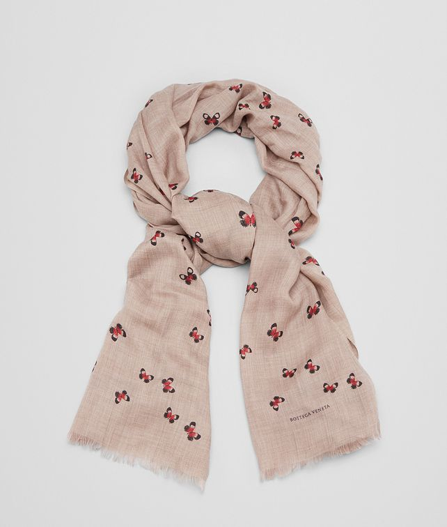 BOTTEGA VENETA SCARF IN SAND RED CASHMERE Scarf Woman fp