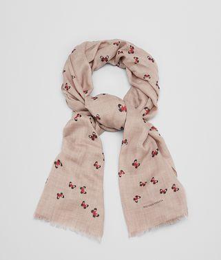 サンド レッド カシミア スカーフ