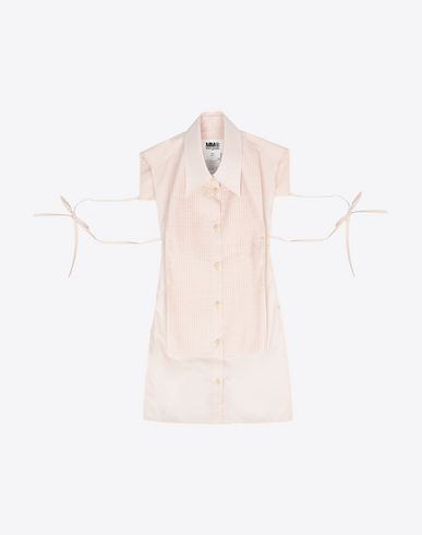 MM6 MAISON MARGIELA Stole D Cotton poplin apron shirt f