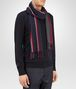 BOTTEGA VENETA SCARF IN AMARANTH DARK GREY WOOL Scarf or other Man rp