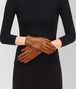 BOTTEGA VENETA GLOVE IN DARK LEATHER NEW NAPPA, INTRECCIO DETAILS Hat or gloves Woman rp