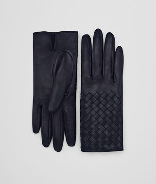 GLOVE IN DARK NAVY NAPPA, INTRECCIO DETAILS