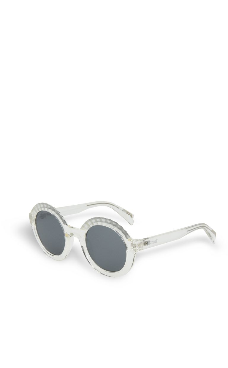 JUST CAVALLI Round sunglasses with raised details SUNGLASSES Woman r