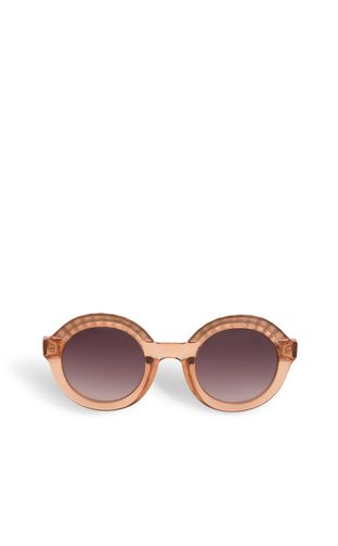 Round sunglasses with raised details