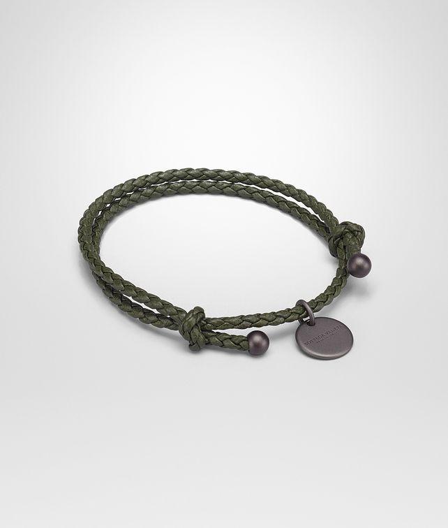 BOTTEGA VENETA BRACELET IN MOSS INTRECCIATO NAPPA Keyring or Bracelets E fp
