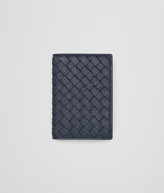 BOTTEGA VENETA CARD CASE IN DENIM INTRECCIATO NAPPA Other Leather Accessory E fp