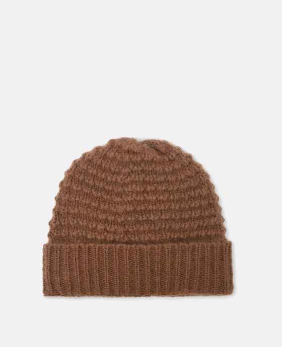 Cappello in Mohair Color Caramello
